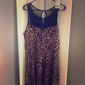 Forever 21 Leopard Midi Dress. NWT!